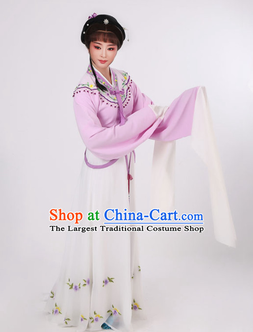 Chinese Traditional Peking Opera Diva Pink Dress Ancient Nobility Lady Embroidered Costume for Women