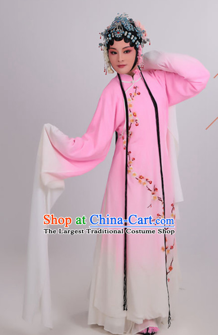 Chinese Traditional Peking Opera Actress Pink Dress Ancient Court Lady Embroidered Costume for Women