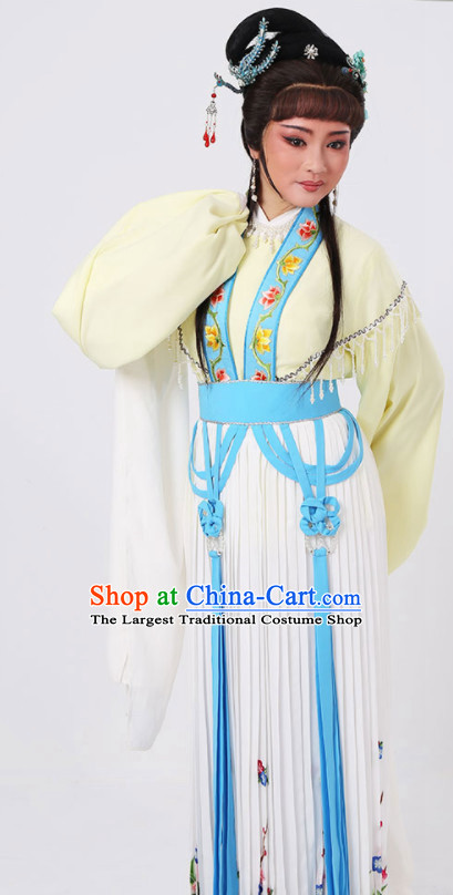 Chinese Traditional Peking Opera Actress Dress Ancient Palace Princess Embroidered Costume for Women