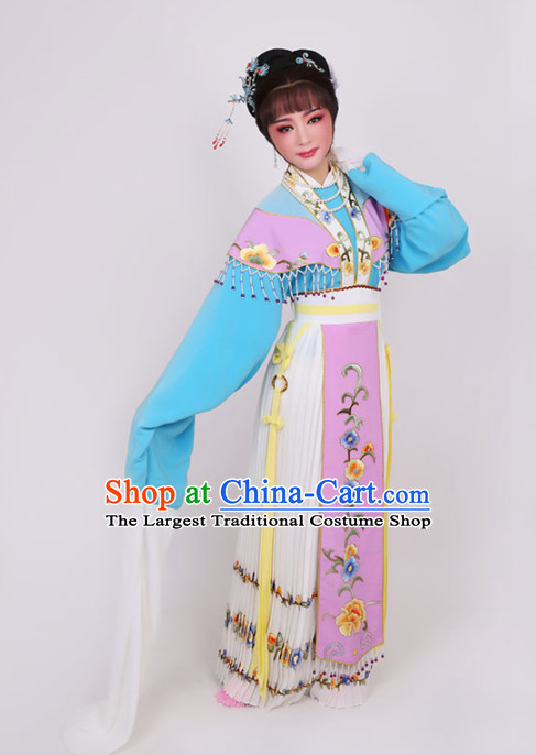 Chinese Traditional Peking Opera Diva Dress Ancient Imperial Empress Embroidered Costume for Women