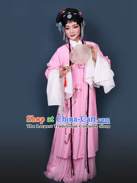 Traditional Chinese Peking Opera Diva Pink Dress Ancient Peri Princess Embroidered Costume for Women