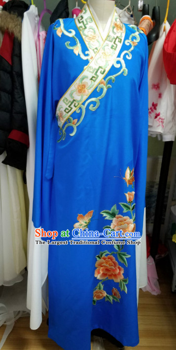 Chinese Traditional Beijing Opera Niche Embroidered Royalblue Robe Ancient Scholar Nobility Childe Costume for Men