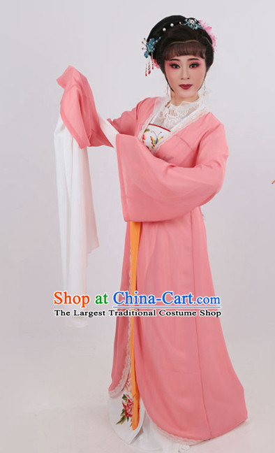 Chinese Traditional Opera Court Princess Pink Dress Ancient Beijing Opera Diva Embroidered Costume for Women