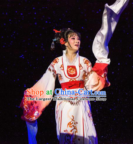 Chinese Traditional Opera Imperial Consort Dress Ancient Beijing Opera Diva Embroidered Costume for Women