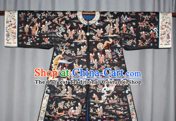 Chinese Traditional Drama Manchu Embroidered Dress Ancient Qing Dynasty Queen Costume for Women