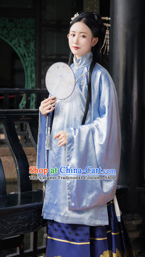 Ancient Chinese Ming Dynasty Court Lady Replica Costume Traditional Palace Princess Hanfu Dress for Women