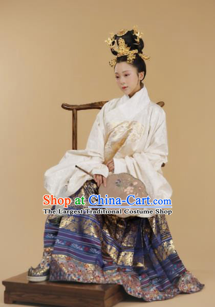 Ancient Chinese Ming Dynasty Court Queen Hanfu Dress Traditional Imperial Empress Replica Costume for Women