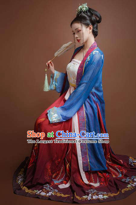 Chinese Traditional Song Dynasty Young Lady Hanfu Dress Ancient Court Princess Replica Costume for Women