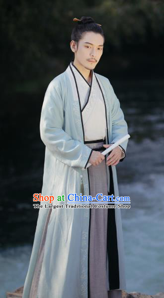 Traditional Chinese Song Dynasty Nobility Childe Hanfu Clothing Ancient Swordsman Replica Costumes for Men