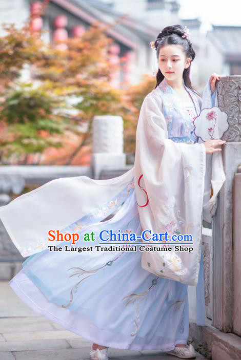 Chinese Ancient Ming Dynasty Princess Hanfu Dress Antique Traditional Court Lady Historical Costume for Women