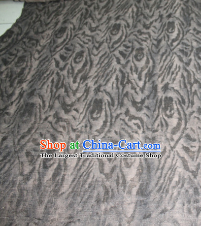Asian Chinese Cheongsam Classical Pattern Grey Gambiered Guangdong Gauze Satin Drapery Brocade Traditional Brocade Silk Fabric