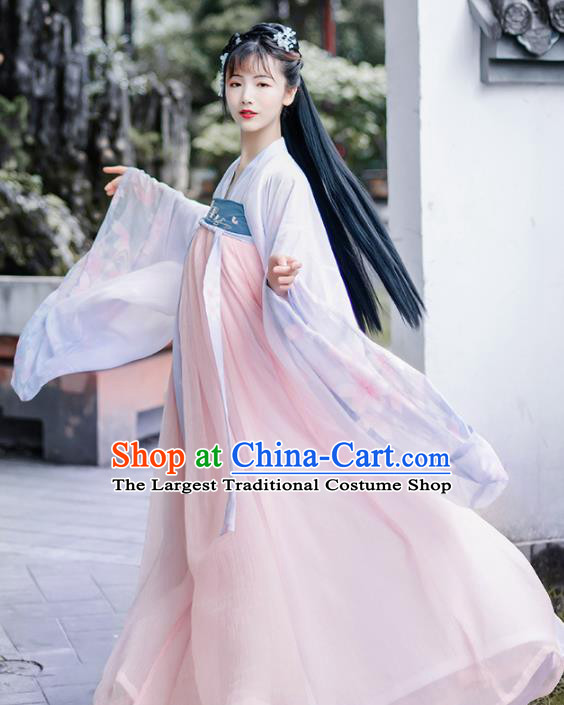 Chinese Ancient Hanfu Dress Antique Traditional Tang Dynasty Court Princess Historical Costume for Women