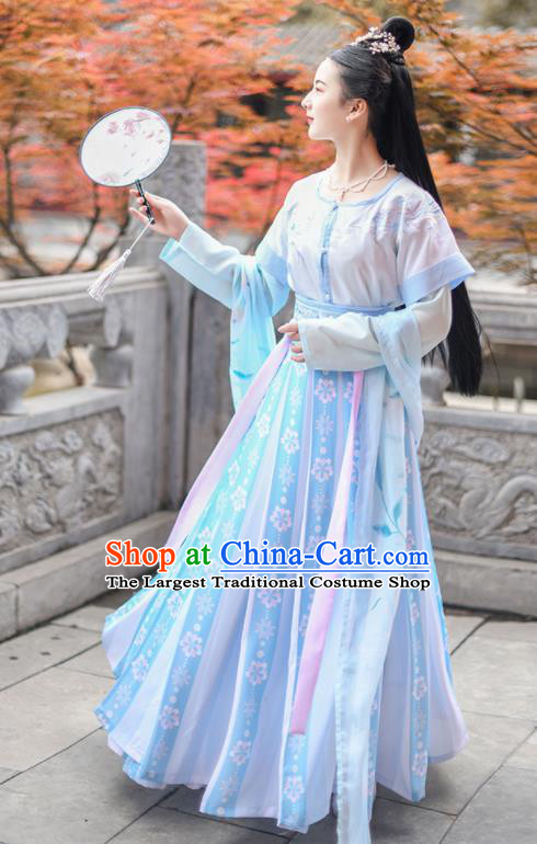 Chinese Ancient Tang Dynasty Princess Hanfu Dress Antique Traditional Court Lady Historical Costume for Women