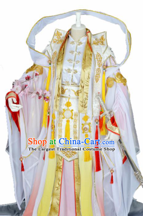 Customized Chinese Cosplay Swordsman Costume Ancient Drama Crown Prince Clothing for Men