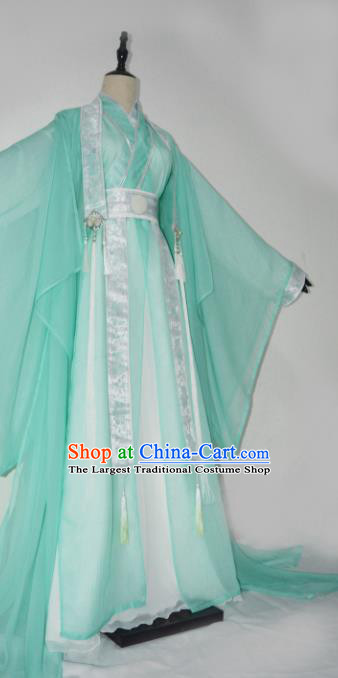 Customized Chinese Cosplay Swordsman Shen Qingqiu Green Costume Ancient Drama Childe Clothing for Men