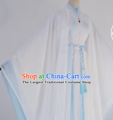 Customized Chinese Cosplay Swordsman Chu Wanning White Costume Ancient Drama Childe Clothing for Men
