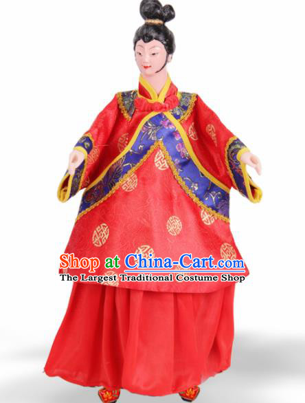 Traditional Chinese Handmade Nobility Lady Puppet Marionette Puppets String Puppet Wooden Image Arts Collectibles
