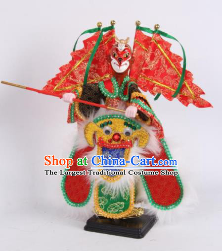 Traditional Chinese Handmade Handsome Monkey King Puppet Marionette Puppets String Puppet Wooden Image Arts Collectibles