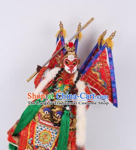 Traditional Chinese Handmade Sun Wukong Puppet Marionette Puppets String Puppet Wooden Image Arts Collectibles