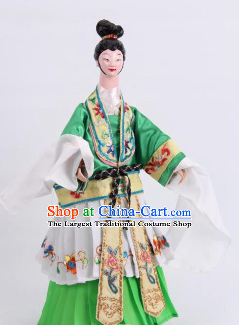 Traditional Chinese Beauty Wang Zhaojun Puppet Marionette Puppets String Puppet Wooden Image Arts Collectibles