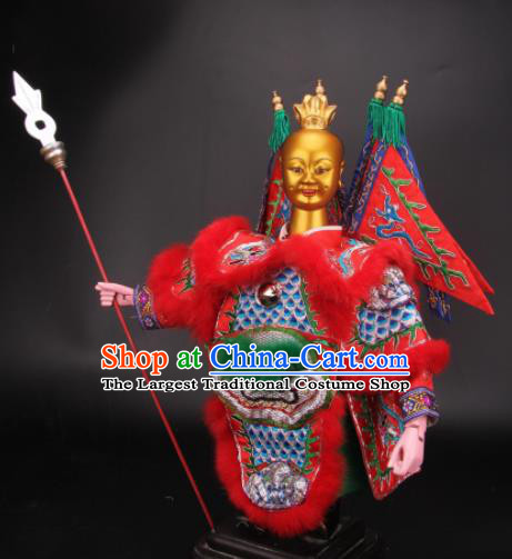 Traditional Chinese Ne Zha Marionette Puppets Handmade Puppet String Puppet Wooden Image Arts Collectibles