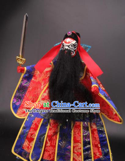 Traditional Chinese Zhong Kui Marionette Puppets Handmade Puppet String Puppet Wooden Image Arts Collectibles