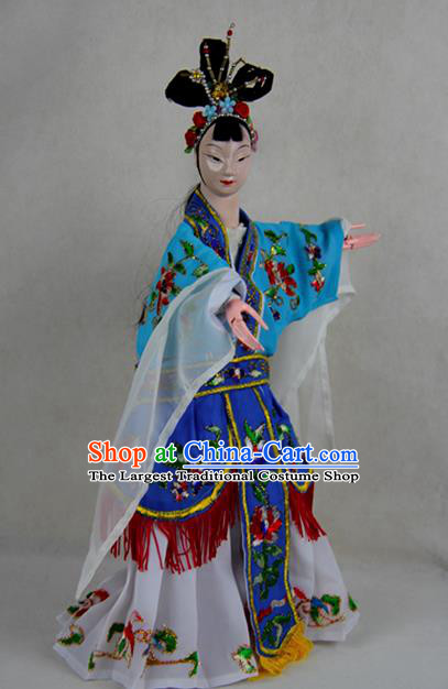 Chinese Traditional Diva Zhu Yingtai Marionette Puppets Handmade Puppet String Puppet Wooden Image Arts Collectibles