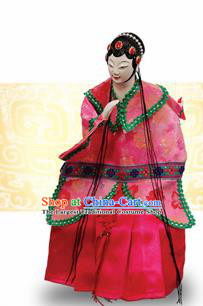 Chinese Traditional Beijing Opera Du Liniang Marionette Puppets Handmade Puppet String Puppet Wooden Image Arts Collectibles