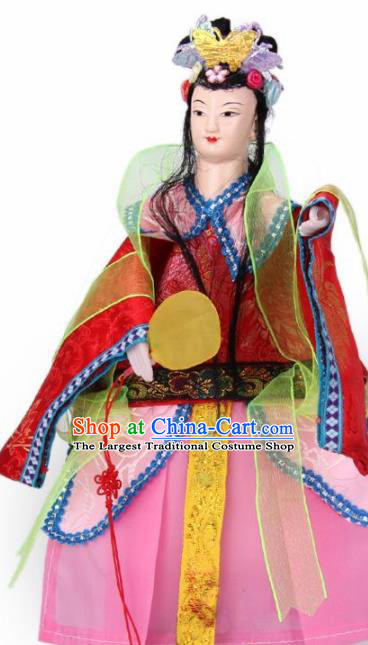 Traditional Chinese Red Beauty Marionette Puppets Handmade Puppet String Puppet Wooden Image Arts Collectibles