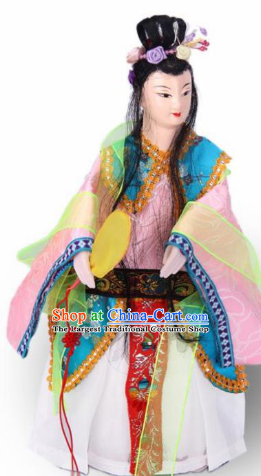 Traditional Chinese Pink Beauty Marionette Puppets Handmade Puppet String Puppet Wooden Image Arts Collectibles