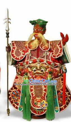Traditional Chinese Crab General Marionette Puppets Handmade Puppet String Puppet Wooden Image Arts Collectibles