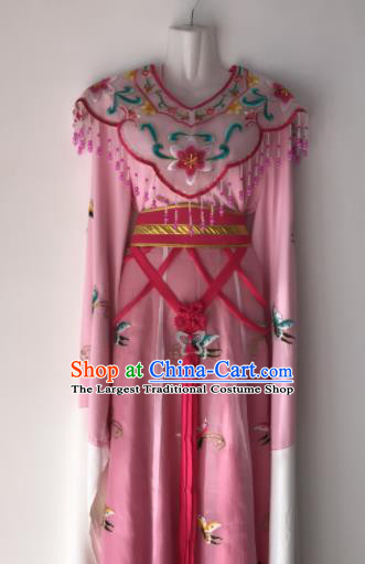 Traditional Chinese Handmade Beijing Opera Diva Zhu Yingtai Costumes Ancient Peri Princess Blue Dress for Women