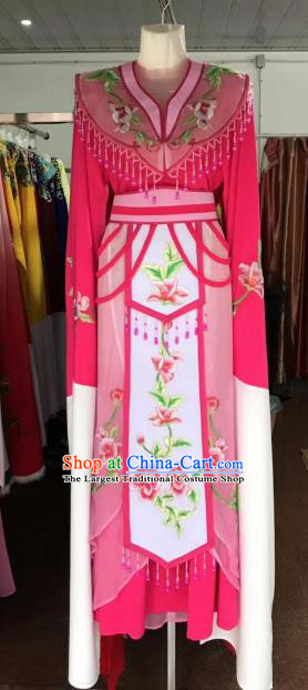 Traditional Chinese Handmade Beijing Opera Diva Costumes Ancient Peri Princess Rosy Dress for Women
