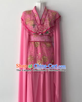 Traditional Chinese Handmade Beijing Opera Diva Rosy Dress Ancient Peri Princess Costumes for Women
