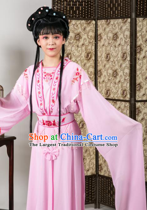 Handmade Traditional Chinese Beijing Opera Diva Pink Dress Ancient Nobility Lady Costumes for Women