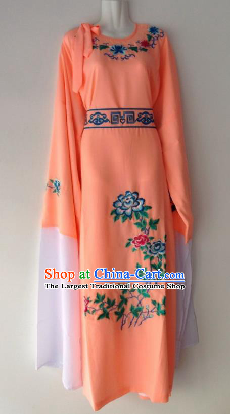 Traditional Chinese Huangmei Opera Niche Orange Robe Ancient Gifted Scholar Costume for Men
