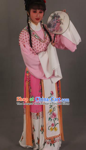 Traditional Chinese Beijing Opera Actress Pink Dress Ancient Court Princess Costumes for Women