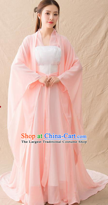 Traditional Chinese Northern and Southern Dynasties Princess Hanfu Dress Ancient Drama Goddess Replica Costumes for Women