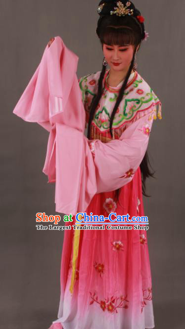 Traditional Chinese Peking Opera Actress Rosy Dress Ancient Imperial Princess Costume for Women