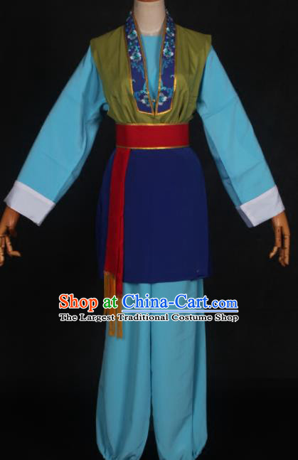 Traditional Chinese Peking Opera Old Women Dress Ancient Countrywoman Costume for Women