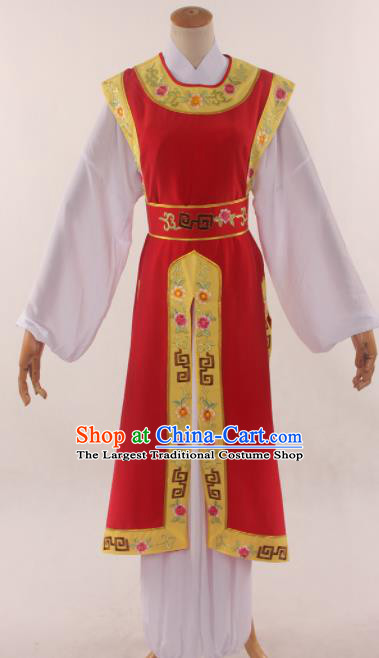 Traditional Chinese Huangmei Opera Niche Red Clothing Ancient Prince Costume for Men
