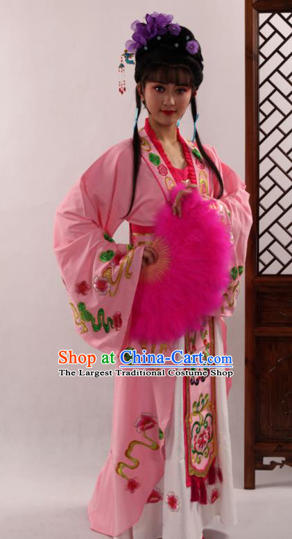 Traditional Chinese Peking Opera Diva Pink Dress Ancient Court Princess Costume for Women