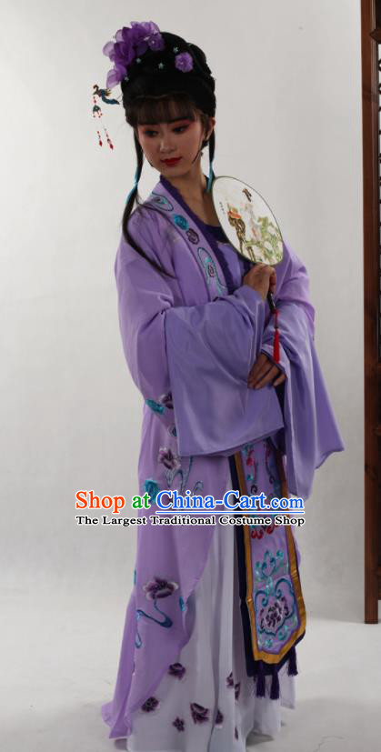 Traditional Chinese Peking Opera Diva Purple Dress Ancient Court Princess Costume for Women