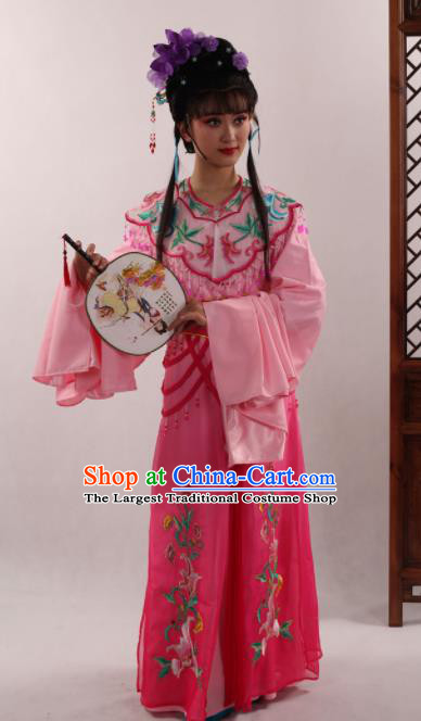 Traditional Chinese Peking Opera Diva Pink Dress Ancient Goddess Princess Costume for Women