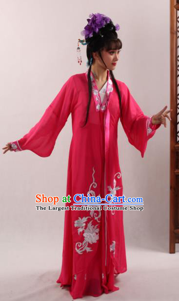 Traditional Chinese Peking Opera Diva Chun Xiang Rosy Dress Ancient Nobility Lady Costume for Women