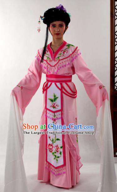 Traditional Chinese Huangmei Opera Diva Pink Dress Ancient Peking Opera Nobility Lady Costume for Women