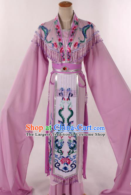 Traditional Chinese Shaoxing Opera Seven Fairy Pink Dress Ancient Peking Opera Diva Costume for Women