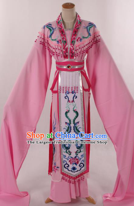 Traditional Chinese Shaoxing Opera Seven Fairy Light Pink Dress Ancient Peking Opera Diva Costume for Women