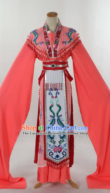 Traditional Chinese Shaoxing Opera Seven Fairy Peach Pink Dress Ancient Peking Opera Diva Costume for Women