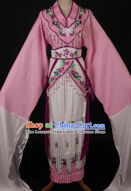Traditional Chinese Shaoxing Opera Diva Lin Daiyu Pink Dress Ancient Peking Opera Princess Costume for Women